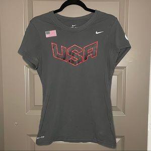 Nike Grey USA Olympic team T-shirt SZ M